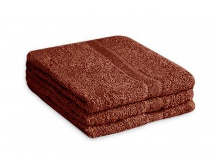 Ručník bavlněný 50 x 90 cm hnědý