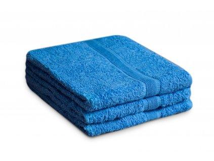 Ručník bavlněný 50 x 90 cm modrý