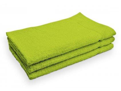 Ručník malý dětský pro hosty bavlněný zelený