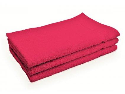 Ručník malý dětský pro hosty bavlněný purpurový růžový
