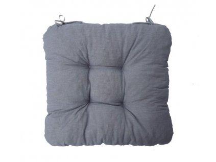 Podsedák na židli Soft světle šedý