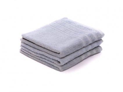 Ručník bavlněný 50 x 100 cm šedý