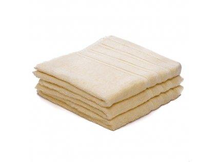 Ručník bavlněný 50 x 100 cm krémový