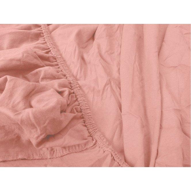 Jersey jednolůžko růžové