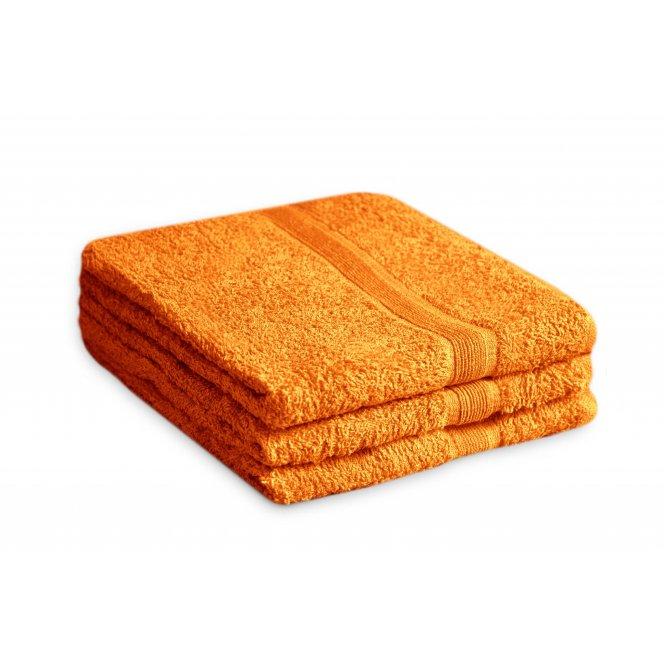 Ručník bavlněný 50 x 90 cm oranžový