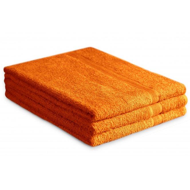 Osuška bavlněná 70 x 125 cm oranžová