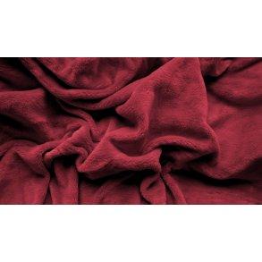 prostěradlo mikroplyš plyšové teplé dvoulůžko 180 x 200 cm vínové červené