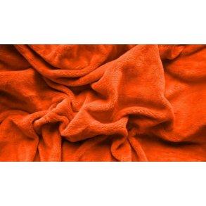 prostěradlo mikroplyš plyšové teplé dvoulůžko 180 x 200 cm oranžové