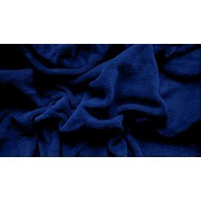 prostěradlo mikroplyš plyšové teplé dvoulůžko 180 x 200 cm modré