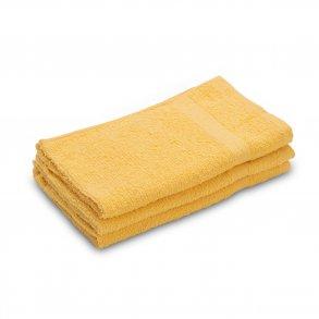 Ručník malý dětský 30 x 50 cm pro hosty bavlněný žlutý