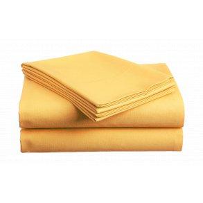 prostěradlo bavlněné plachta hladké hotelové jednolůžko 140 x 240 cm oranžové žluté