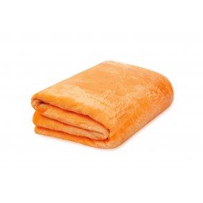 Deka mikroflanel 150x200 cm oranžová