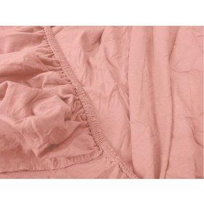 Jersey prostěradlo růžové 90x200 cm