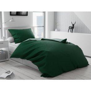 Bavlněné povlečení zelené jednobarevné