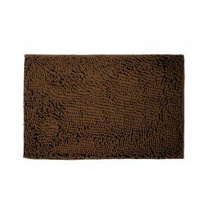 Koupelnová přednožka hotelová rohožka bavlněná mikrovlákno žinylková hnědá