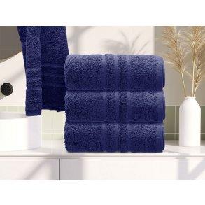 Ručník bavlněný 50 x 100 cm modrý
