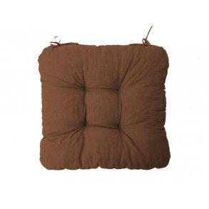 Sedák na židli Soft tmavě hnědý