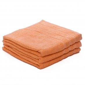 Ručník bavlněný 50 x 100 cm meruňkový oranžový