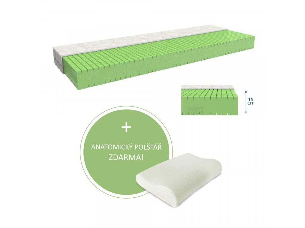 MPO Antidekubitní matrace ANTIDEKUBIT 120 x 200 cm Potah matrace: Zdravotní potah - omyvatelný