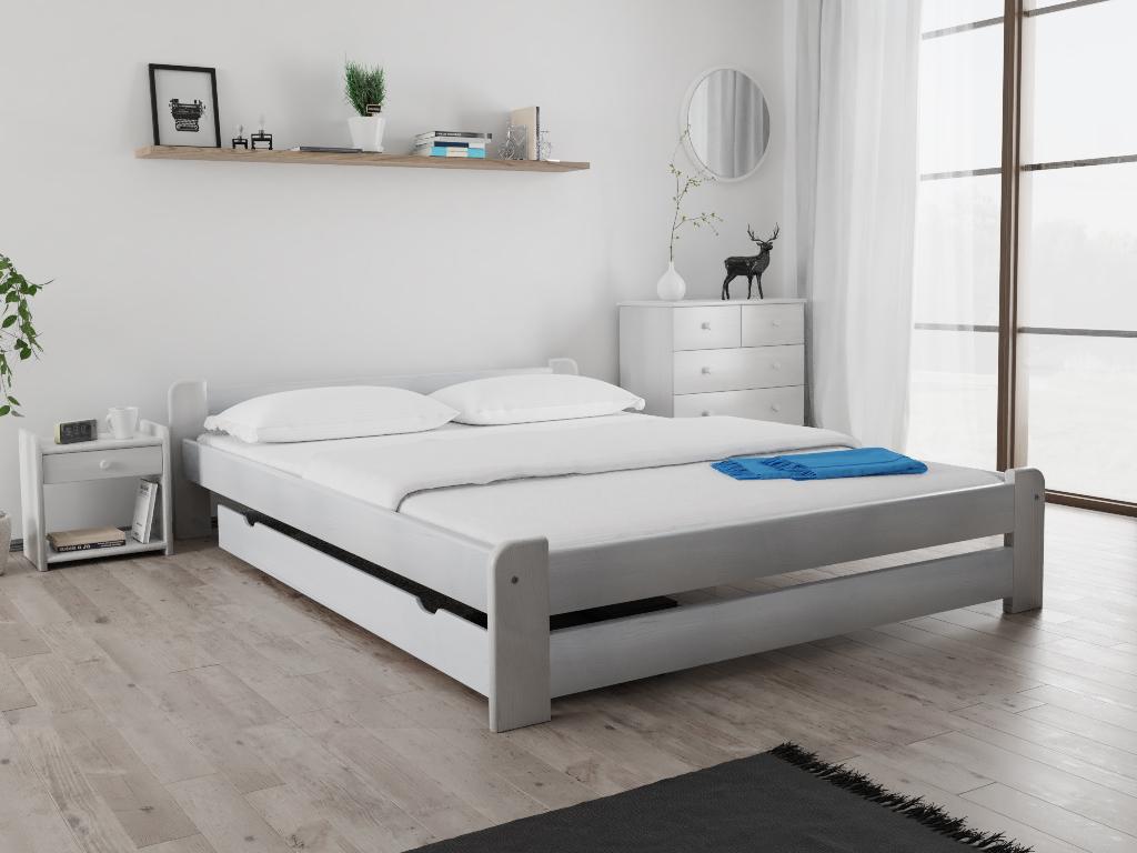 Magnat Postel Emily 160x200 cm, bílá Rošt: S laťkovým roštem, Matrace: bez matrace