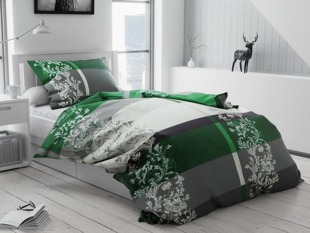 Bavlněné povlečení Luxury zelené