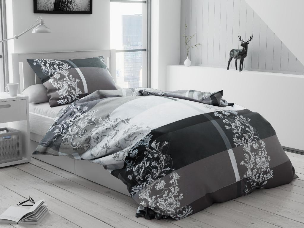 Bavlněné povlečení Luxury šedé
