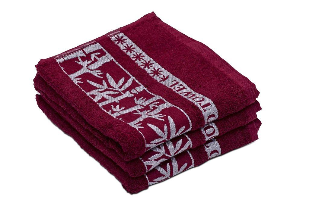 Bambusový ručník BAMBOO vínový