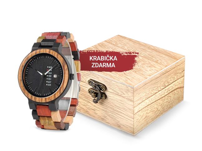 Dřevěné hodinky Skyline barevné
