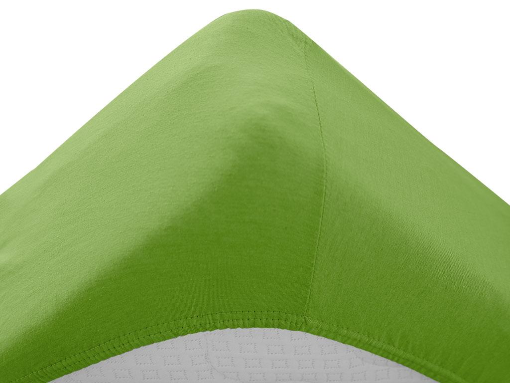 Jersey prostěradlo do dětské postýlky zelené 70x140 cm
