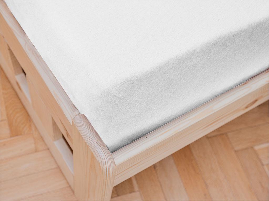 Jersey prostěradlo do dětské postýlky bílé 70 x 140 cm