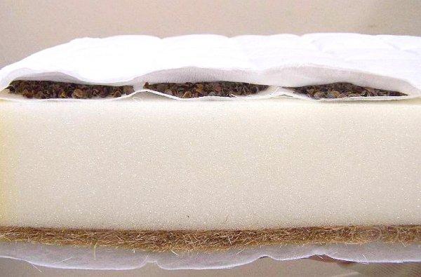 Matrace do postýlky pohanka - molitan - kokos