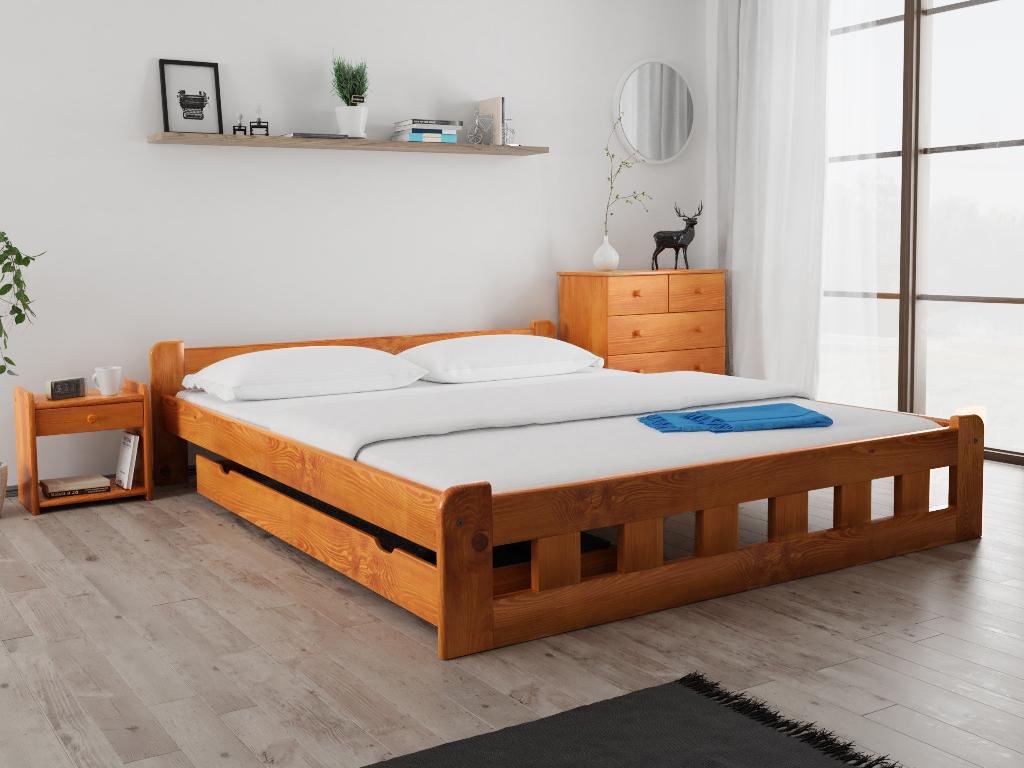 Maxi Drew Postel Naomi zvýšená 180 x 200 cm, olše Rošt: Bez roštu, Matrace: Matrace Somnia 17 cm