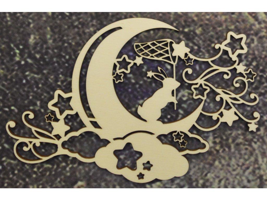 Dekorace zajíček s měsíčkem