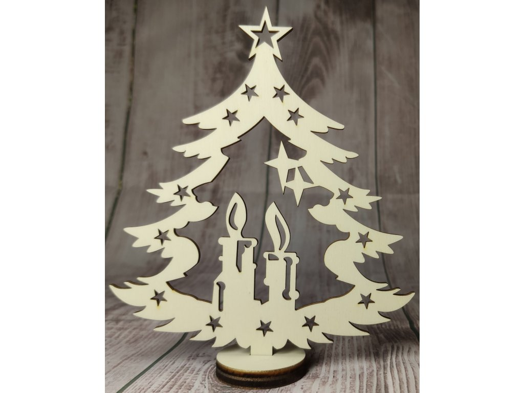 Vánoční ozdoba - stromeček se stojánkem