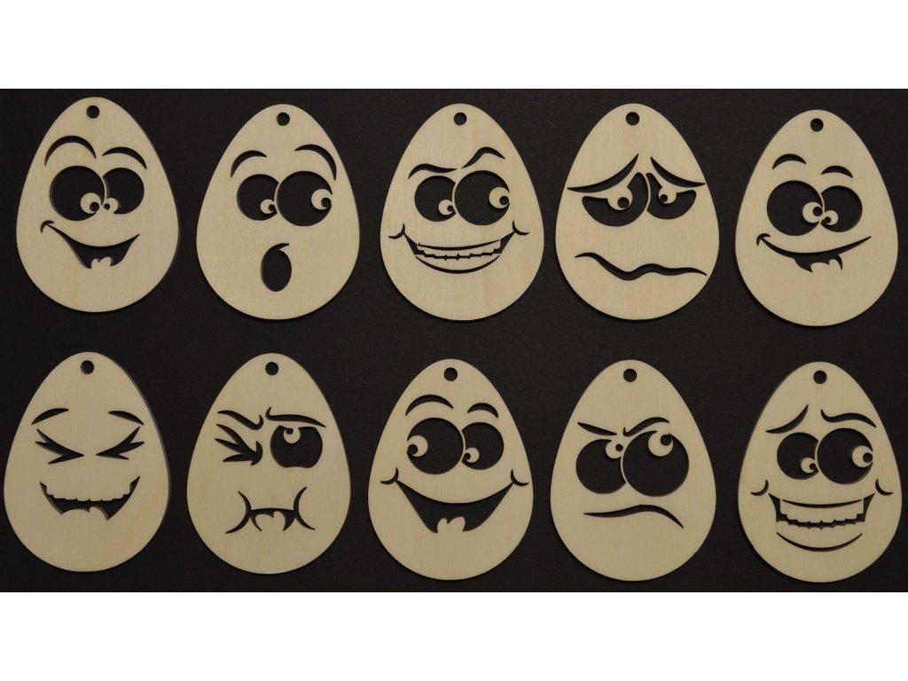 Velikonoční vajíčka sada 10ks