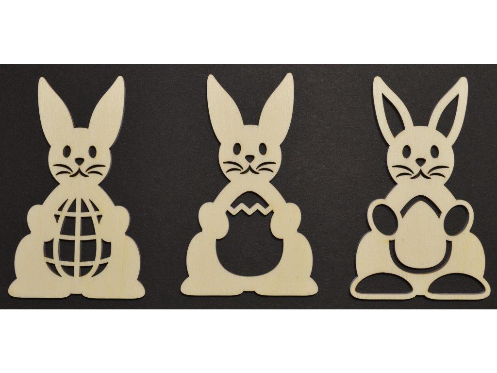 Velikonoční zajíčci 3ks