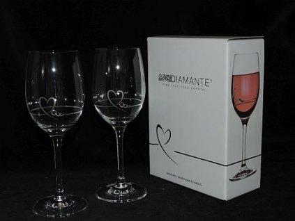 Skleničky na víno 2 kusy