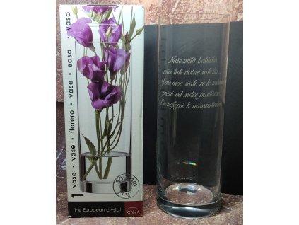 Váza s věnováním