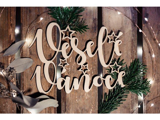 Nápis - veselé vánoce
