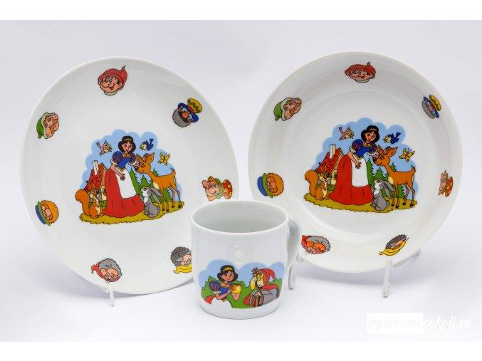 Dětská jídelní sada - Sněhurka a sedm trpaslíků