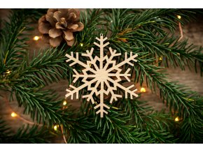 Vánoční ozdoba - vločka 4
