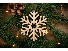 Vánoční ozdoba - vločka 6