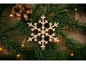 Vánoční ozdoba - vločka 7