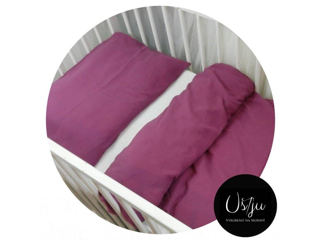Povlečení do dětské postýlky/postele, zip, mušelín