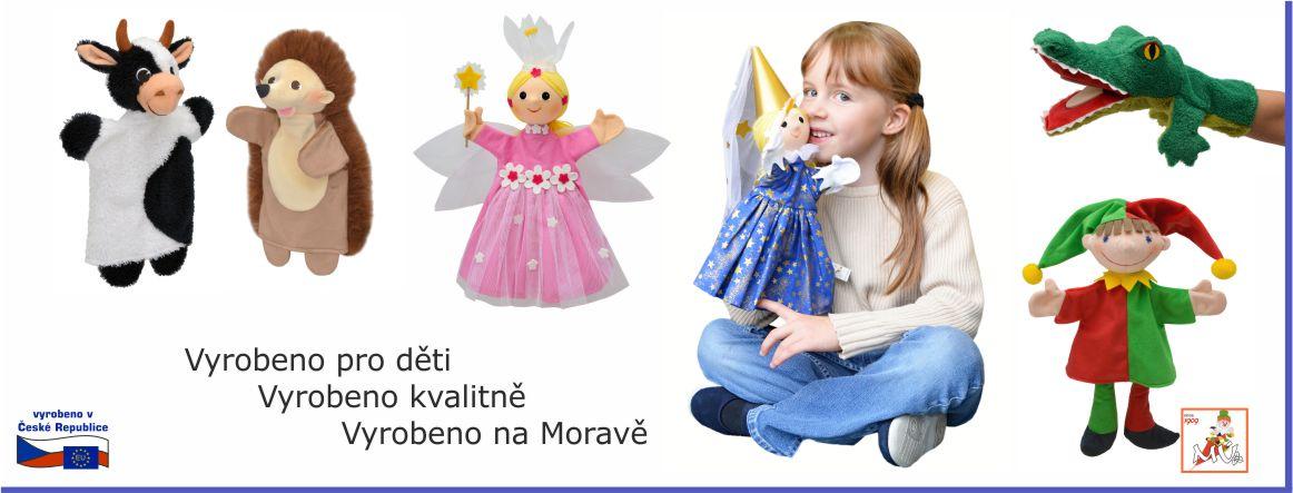 Maňásci kravička ježek víla princezna klapací krokodýl šašek - české hračky pro děti kluky i holky