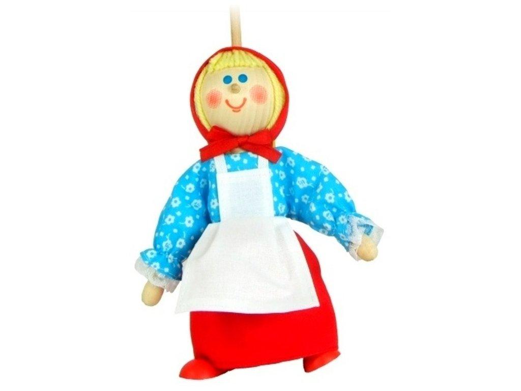 Loutka na tyči hračka ze dřeva - Karkulka