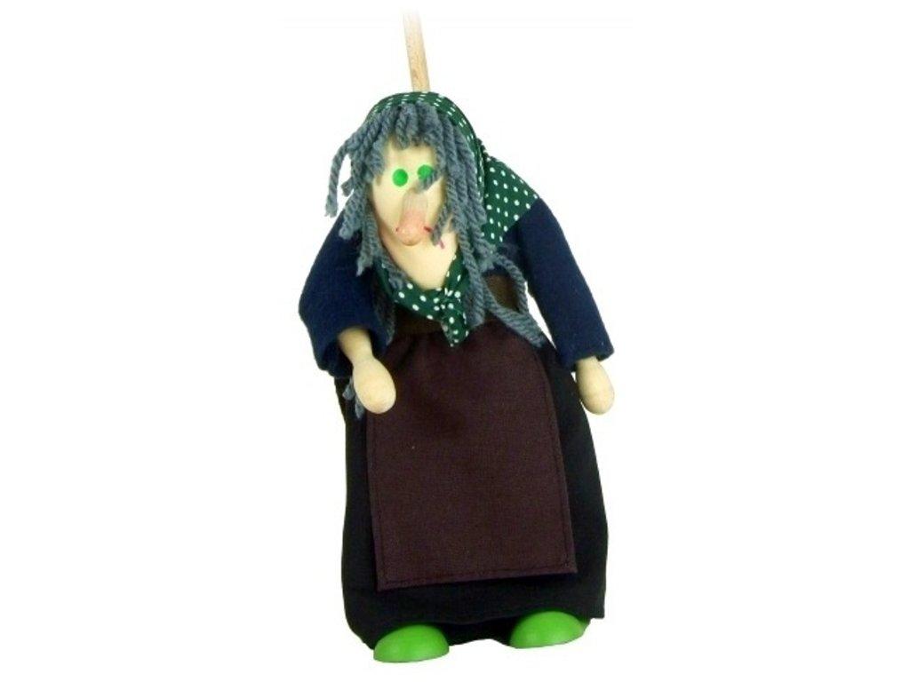 Loutka na tyči hračka ze dřeva - Ježibaba