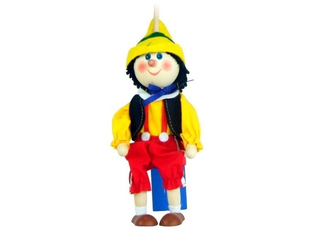 Loutka na tyči hračka ze dřeva - Pinochio