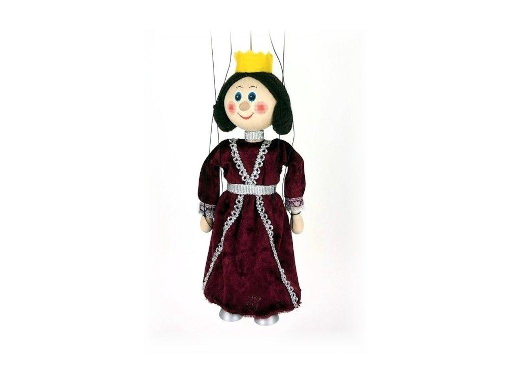 Dřevěná loutka - hračka ze dřeva - Královna