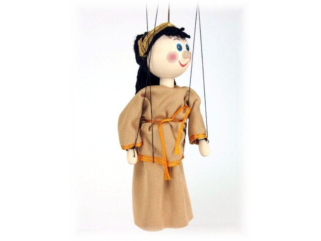 Dřevěná loutka - hračka ze dřeva - Desdemona